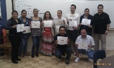 Parents finishing Positive Parenting Class